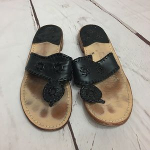 LOVED Jack Rodgers Sandals Black Size 7 cheap